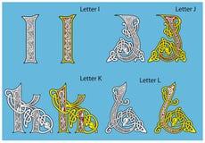 forntida celtic för alfabet Arkivbilder