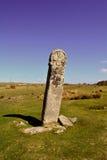 Forntida celtic standindsten i den Bodmin heden, England Royaltyfri Fotografi