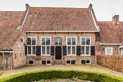 Forntida centrum av Amersfoort Nederländerna Arkivbild