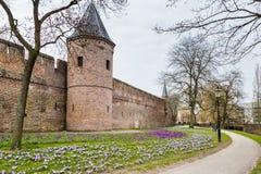 Forntida centrum av Amersfoort Nederländerna royaltyfria bilder