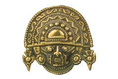 forntida ceremoniel isolerad peruansk white för maskering royaltyfri bild