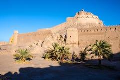 Forntida citadell av Bam arkivbild