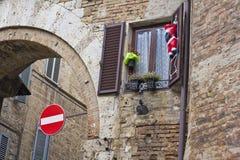 forntida claus santa vägg Royaltyfri Fotografi