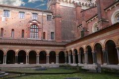 forntida cloister Royaltyfri Foto