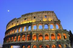 forntida colosseumnatt rome Royaltyfri Foto