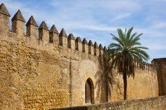 forntida cordoba spain townvägg royaltyfri foto