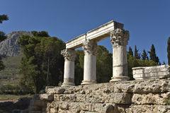 forntida corinth greece lokal Royaltyfria Bilder