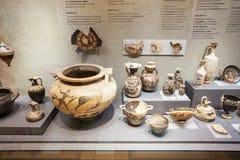 Forntida Corinth i Grekland Arkivbild