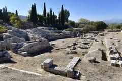 Forntida Corinth teater Arkivbilder