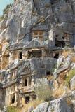 Forntida död stad i Myra Demre Turkey Royaltyfri Bild