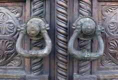 Forntida dörrlås Royaltyfria Foton
