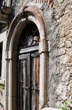 forntida dörrträ Royaltyfri Fotografi