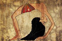 forntida dansare egypt royaltyfri illustrationer