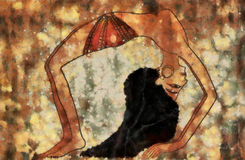 forntida dansare egypt vektor illustrationer