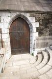 Forntida dekorera dörren Fotografering för Bildbyråer