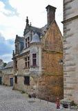 Forntida del av den franska staden Le Mans Arkivbild