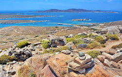 forntida delos greece fördärvar Arkivfoton