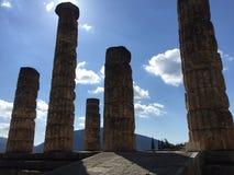 Forntida Delphi arkivfoto