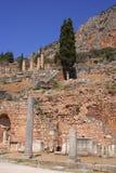 forntida delphi greece panorama Royaltyfria Bilder