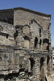 forntida detaljorangetheatre Arkivbild