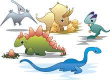 forntida dinosaurreptil Arkivfoton