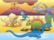 forntida dinosaurreptil Arkivbild