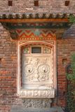 Forntida dricka springbrunn, Sforza Castel i Milan, Italien Royaltyfri Fotografi