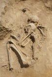 forntida dubbel grav Arkivfoto