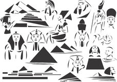 forntida egypt royaltyfri illustrationer