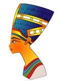 forntida egypt drottning vektor illustrationer