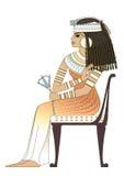 forntida egypt elegant kvinna vektor illustrationer