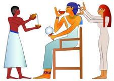 forntida egypt frisör royaltyfri illustrationer