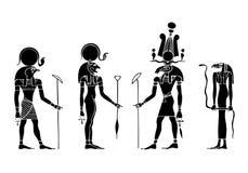 forntida egypt gudar royaltyfri illustrationer