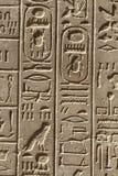 Forntida egypt hieroglyphs Royaltyfri Fotografi