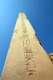 Forntida egypt kolonn i karnaktempel Royaltyfri Bild