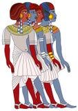 forntida egypt kvinnor stock illustrationer
