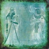 Forntida Egypten grön wallpaper vektor illustrationer
