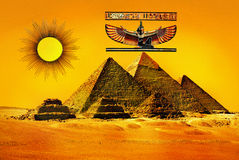 Forntida Egypten pyramider Royaltyfria Foton