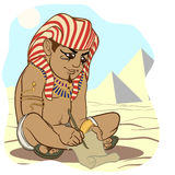Forntida egyptier för tecknad filmstil vektor illustrationer