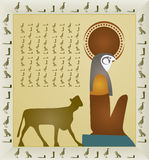 forntida egyptisk elementhistoriepapyrus Arkivbild