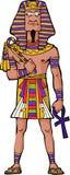 Forntida egyptisk farao Arkivfoto