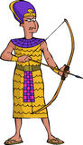 Forntida egyptisk krigare Fotografering för Bildbyråer