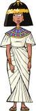 forntida egyptisk kvinna Arkivfoton