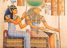 Forntida egyptisk papyrus Royaltyfri Foto