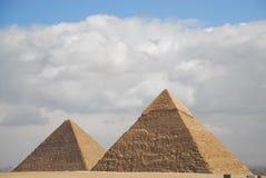 forntida egyptisk pyramid Arkivfoto