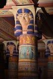 Forntida egyptisk tempel i Kartbok Korporation studior i Ouarzazate, Marocko Arkivfoton