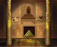 Forntida egyptisk tempelinre Bild 3 Arkivfoto