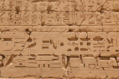 Forntida egyptiska hieroglyf Fotografering för Bildbyråer
