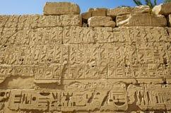 forntida egyptiska hieroglyphics Arkivfoto