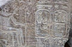 forntida egyptiska hieroglyphs Royaltyfria Foton